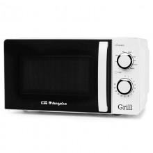 Microondas Orbegozo MIG2130/ 700W/ Capacidad 20L/ Función Grill/ Blanco