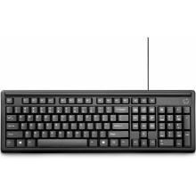 HP 100 teclado USB Negro