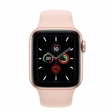 Apple Watch Series 5 GPS, 40mm Caja de Aluminio en oro - Correa deportiva rosa arena