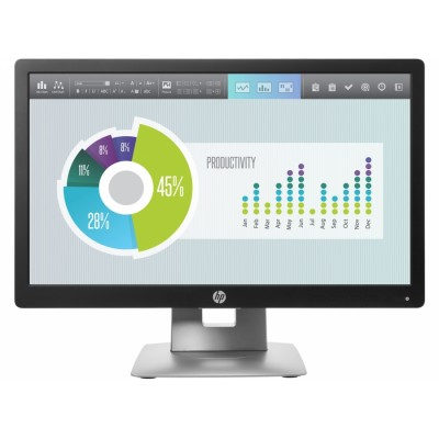 "HP EliteDisplay E202 20"" IPS Negro, Plata pantalla para PC"