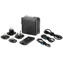 HP 65W Smart Travel AC Adapter Auto 65W Negro adaptador e inversor de corriente