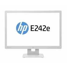 HP Renew EliteDisplay E242e Monitor, 24 Inch (1920 x 1200), AC power cord, USB cable, DisplayPort cable, VGA cable, - NO SOFT