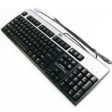 Teclado HP 434820-072 PS/2 QWERTY Español Negro, Plata teclado
