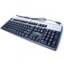 HP 434821-072 USB Negro, Plata teclado