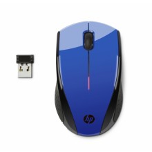 HP X3000 CBlue Wireless Mouse RF inalámbrico Óptico 1200DPI Ambidextro Azul ratón