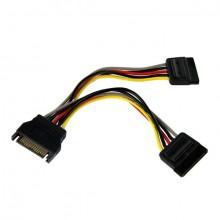 StarTech.com Cable Adaptador Bifurcador Divisor Splitter de Alimentación SATA de 0,15m - 2x Hembra