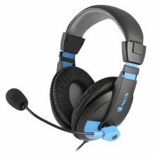 NGS MSX9 Pro Binaural Diadema Negro, Azul auricular con micrófono