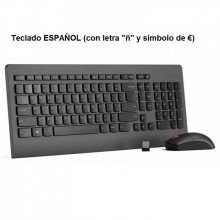 Kit inalámbrico de teclado español + ratón Lenovo