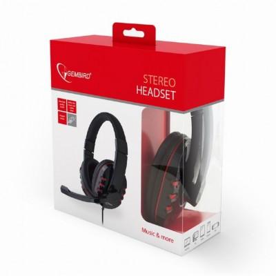 Gembird GHS-402 Binaural Diadema Negro auricular con micrófono