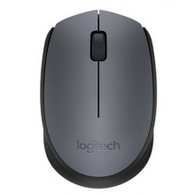 Logitech M170 ratón RF inalámbrico Óptico 1000 DPI Ambidextro Negro, Gris