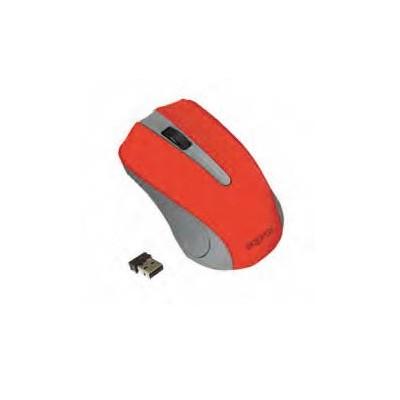 Approx APPWMLITExV2 ratón RF inalámbrico Óptico 1200 DPI Ambidextro Gris, Rojo