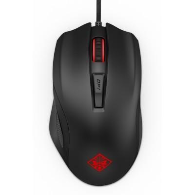 HP 600 ratón USB Óptico 12000 DPI mano derecha Negro, Rojo