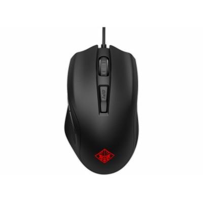 HP OMEN Mouse 400 ratón USB Óptico 5000 DPI Ambidextro Negro