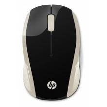 HP 200 (Silk Gold) ratón RF inalámbrico 1000 DPI Ambidextro Negro, Oro