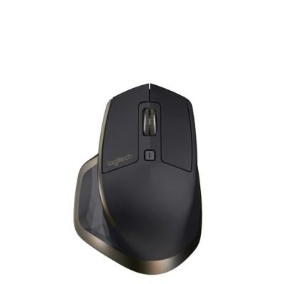 Logitech MX Master ratón RF inalámbrica + Bluetooth Laser 1000 DPI mano derecha Negro, Bronce