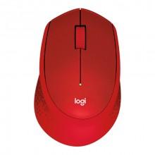 Logitech M330 ratón RF inalámbrico Mecánico 1000 DPI mano derecha Rojo