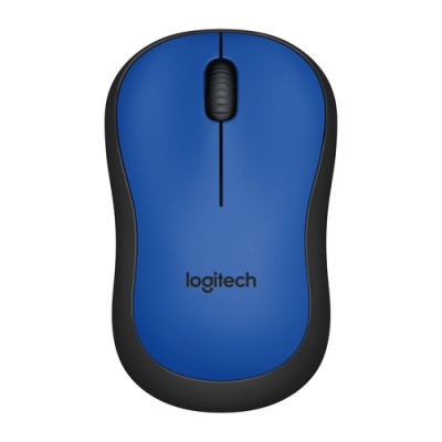 Logitech M220 ratón RF inalámbrico Óptico 1000 DPI Ambidextro Negro, Azul