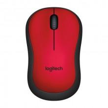Logitech M220 ratón RF inalámbrico Óptico 1000 DPI Ambidextro Negro, Rojo