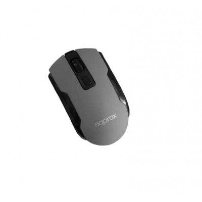 Ratón inalámbrico Approx Wireless Optical Mouse Grey
