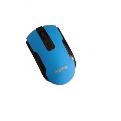 Ratón inalámbrico Approx Wireless Optical Mouse Light Blue
