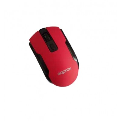 Ratón inalámbrico Approx Wireless Optical Mouse Red