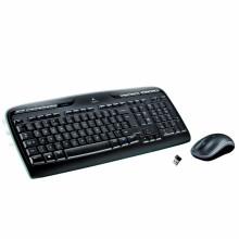 Teclado RF inalámbrico QWERTY Español Negro, Gris Logitech MK330