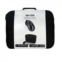 """Nilox Kit Borsa Notebook + Mouse 15.4"""" Maletín Negro (14NXBM0200001)"""