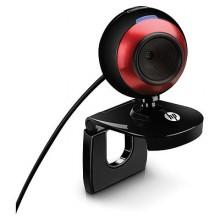 HP 2100 cámara web 1,3 MP 640 x 480 Pixeles USB 2.0 Negro, Rojo