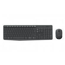 Logitech MK235 RF inalámbrico QWERTY Español Gris teclado