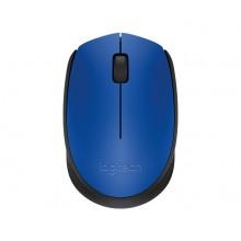 Logitech M171 RF inalámbrica + USB Óptico 1000DPI Ambidextro Negro, Azul ratón