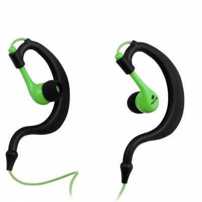 NGS Green Triton gancho de oreja Binaurale Alámbrico Negro, Verde auriculares para móvil