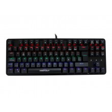 KeepOut F105 teclado USB QWERTY Inglés, Español Negro