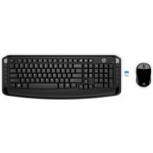 HP 300 teclado RF inalámbrico Negro
