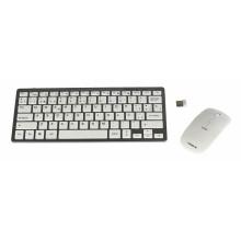 Tacens Levis Combo V2 teclado RF inalámbrico Metálico, Blanco