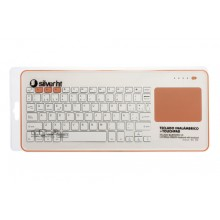 SilverHT Touchpad Wireless KB Silver Ht White + Peach