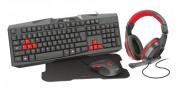 Trust 22312 teclado USB Español Negro, Rojo