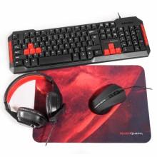Mars Gaming MRCP1 teclado USB Negro, Rojo