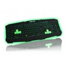 KeepOut F90 teclado USB Español Negro, Verde