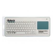 SilverHT Touchpad Wireless KB Silver Ht White + Blue