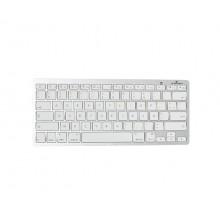 Bluestork BS-KB-MICRO/BT/SP teclado Bluetooth QWERTY Español Plata, Blanco