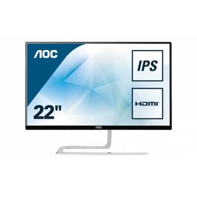 """AOC Style-line I2281FWH pantalla para PC 54,6 cm (21.5"""") 1920 x 1080 Pixeles Full HD LED Plana Mate Negro, Plata"""