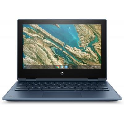 "HP Chromebook x360 11 G3 EE Azul 29,5 cm (11.6"") 1366 x 768 Pixeles Pantalla táctil Intel® Celeron® N 8 GB LPDDR4-SDRAM 64"