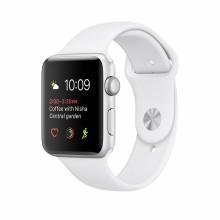 Apple Watch Series 1 caja de 42 mm de aluminio en plata y correa deportiva blanca