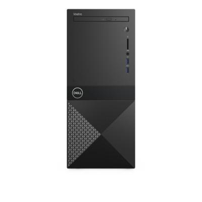 DELL Vostro 3671 9na generación de procesadores Intel® Core™ i3 i3-9100 8 GB DDR4-SDRAM 256 GB SSD Mini Tower Negro, Plat