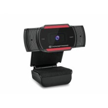 Conceptronic AMDIS 1080P Full HD Webcam with Microphone cámara web 1920 x 1080 Pixeles USB 2.0 Negro, Rojo