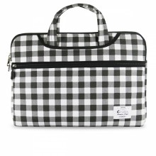 "e-Vitta Chequered maletines para portátil 35,6 cm (14"") Funda Negro, Blanco"