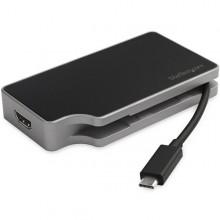 Adaptador USB-C Multipuertos HDMI y VGA - PD 95W - Mac Win Chrome - 4K - USB-A - GbE - Portátil - Docking Station USB Tipo C