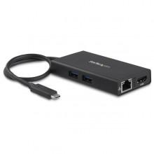 Adaptador Multipuertos USB-C con HDMI de 4K- 2x Puertos USB-A - PD de 60W - Negro