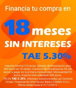 Financiación 18 meses