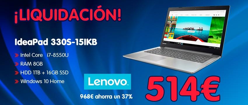 Portátil Lenovo IdeaPad 330S-15IKB